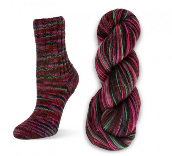 Flotte Socke PERU handgefärbt Rellana Sockenwolle