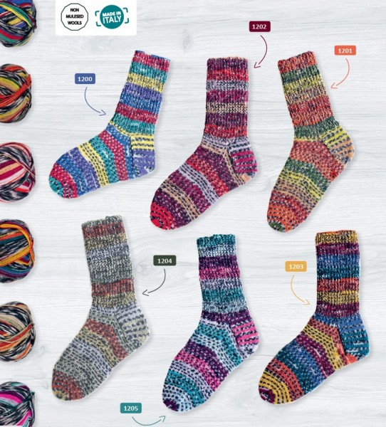 Rellana Flotte Socke FIGARO 4-fädig