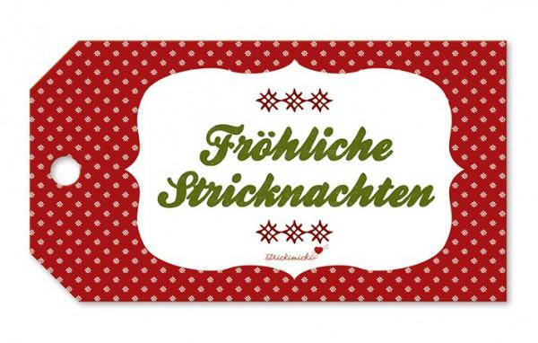 Strickimicki Geschenk-Anhänger - Fröhliche Stricknachten