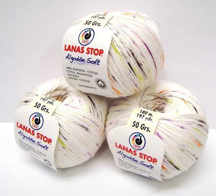 Lanas Stop ALGODON SOFT estampado 50 g