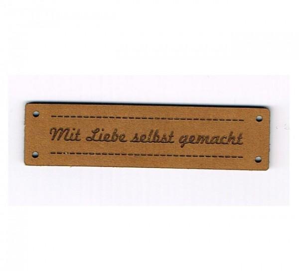 Strickimicki Leder-Etikett - Mit Liebe selbst gemacht