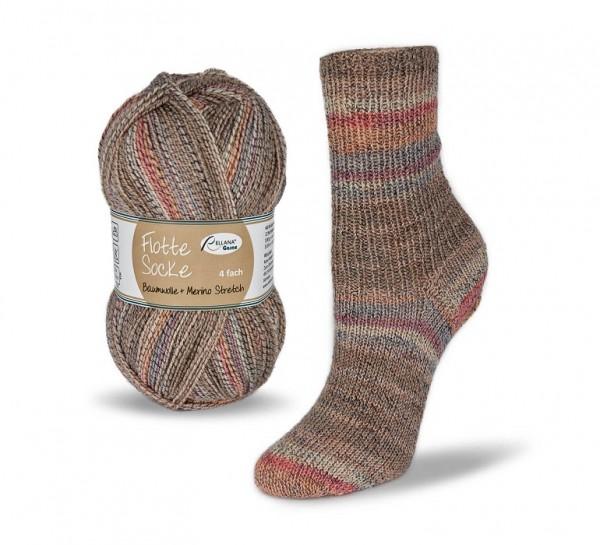 Flotte Socke Baumwolle + Merino Stretch Sockenwolle