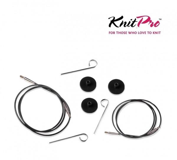 Seil für austauschbare Nadelspitzen schwarz KnitPro