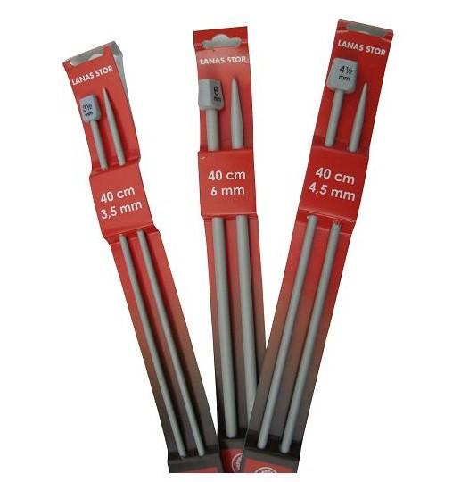 Lanas Stop Jackenstricknadeln 40 cm Aluminium