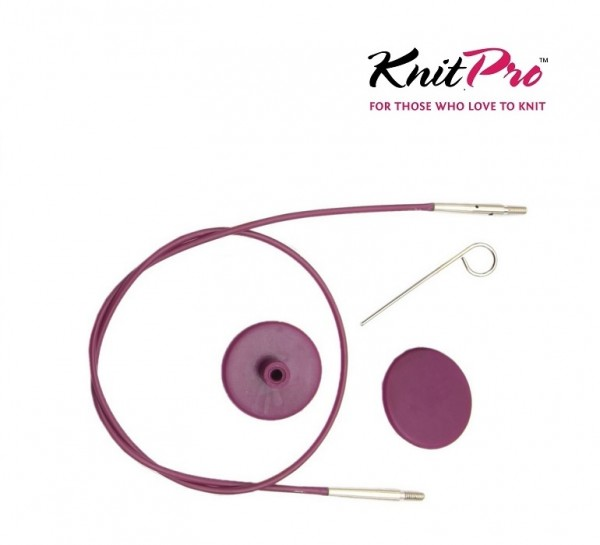 Seil für austauschbare Nadelspitzen lila KnitPro