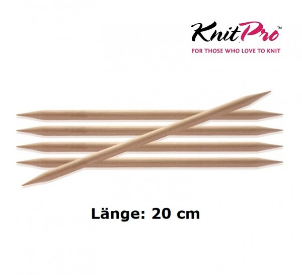Nadelspiel BASIX BIRCH Birkenholz 20 cm KnitPro
