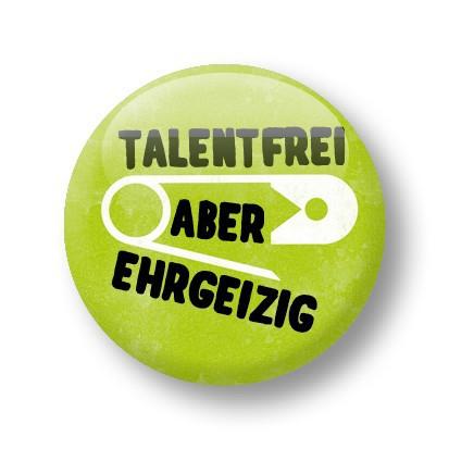 Strickimicki Button - Talentfrei aber ehrgeizig