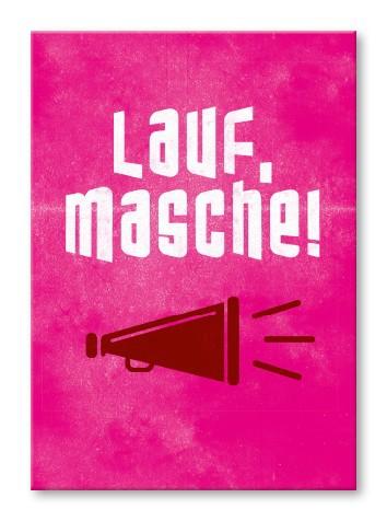 Strickimicki Postkarte - Lauf, Masche !