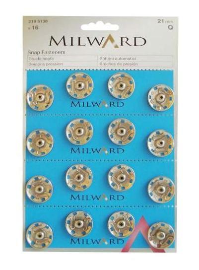 Milward Druckknöpfe 21 mm 16 Stück