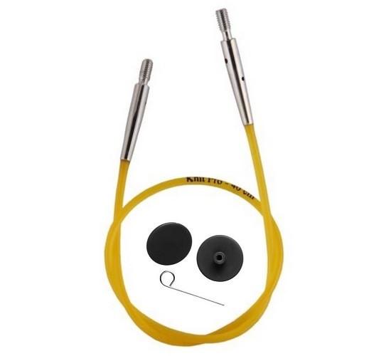 Seil für austauschbare Nadelspitzen farbig KnitPro