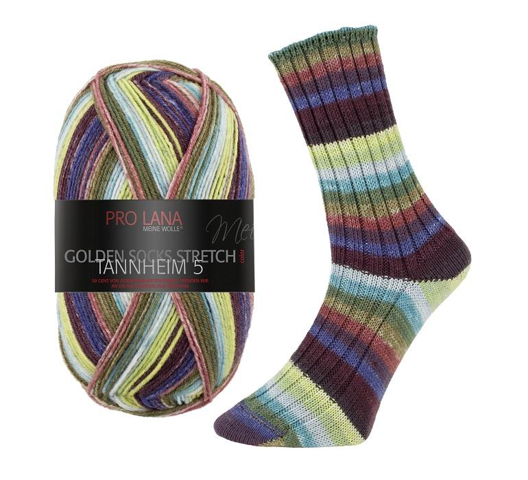 Pro Lana Golden Socks Stretch TANNHEIM-4 4-fädig 100g Sockengarn stricken häkeln