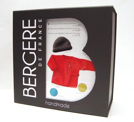 Bergere de France Kit - Wickeljacke und Mütze