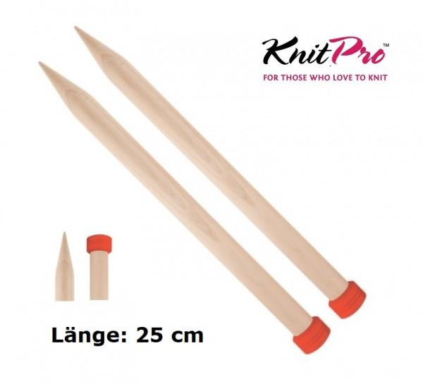Jackenstricknadeln JUMBO BIRCH Birkenholz 25 cm KnitPro