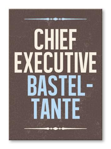 Strickimicki Postkarte - Chief Executive Basteltante