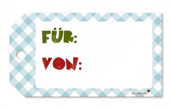 Strickimicki Geschenk-Anhänger - Für.... von....
