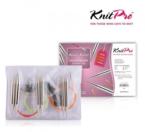 NOVA METAL Nadelspitzen Set CHUNKY KnitPro